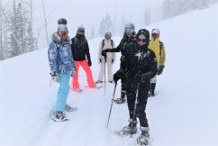 Blizzard snowshoeing with newfound friends? Yes please <3