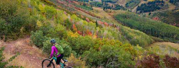 fall mountain biking park city