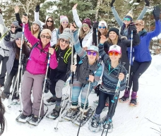 Snowshoe hikes with Wild Women Tribe